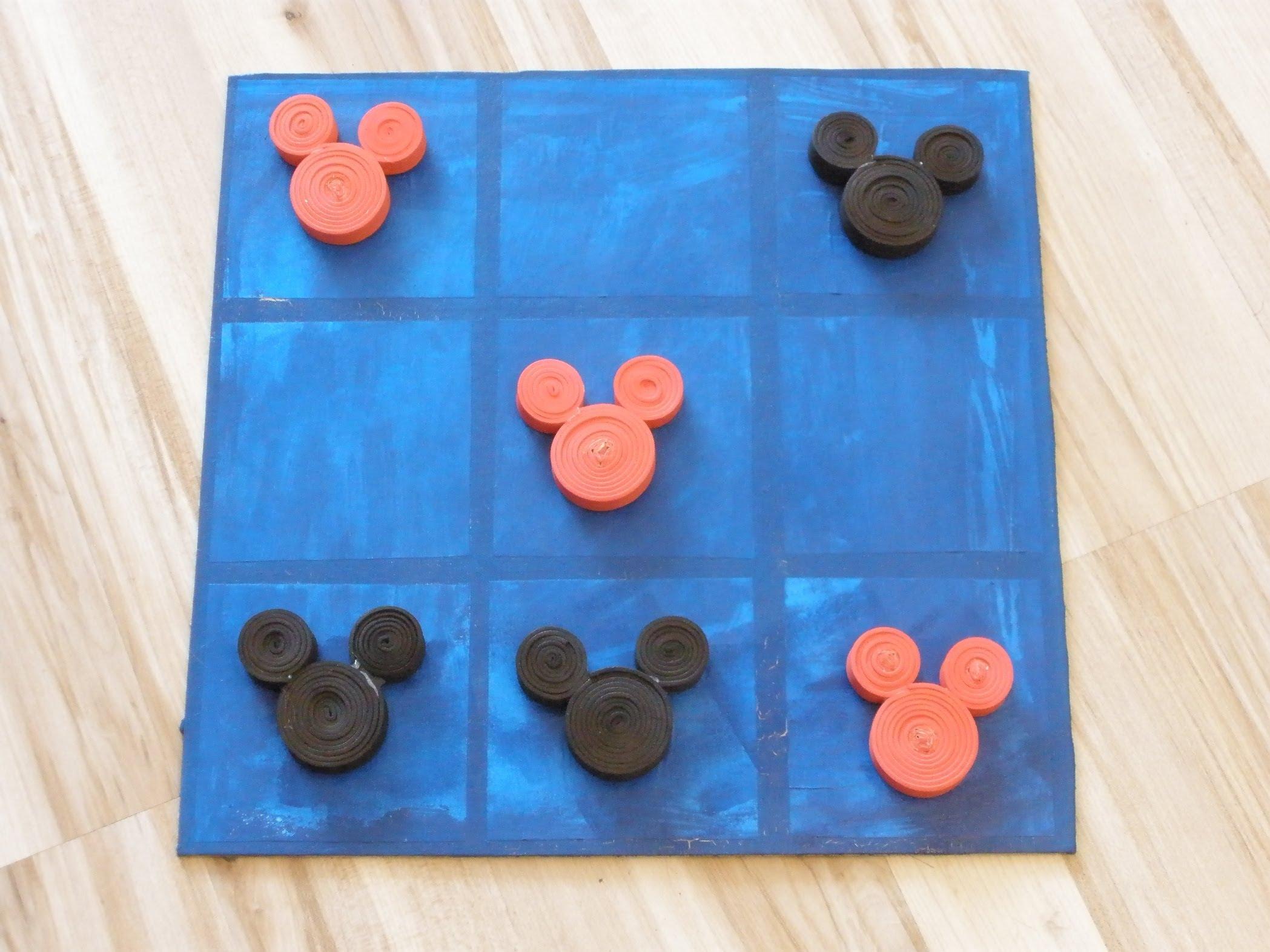 Juego 3 En Raya De Mickey Y Minnie En Goma Eva Manualidades En