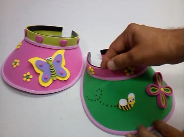 materiales superiores ahorre hasta 80% mejor autentico Gorra visera para niños en goma eva   Manualidades en Goma Eva