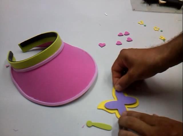 comprar oficial mejor calificado descuento en venta Gorra visera para niños en goma eva | Manualidades en Goma Eva