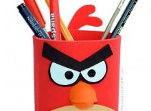 Portalapices de Angry Birds en goma eva