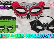 Antifaces de goma eva para carnaval con moldes