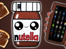 Funda para movil de Nutella en goma eva