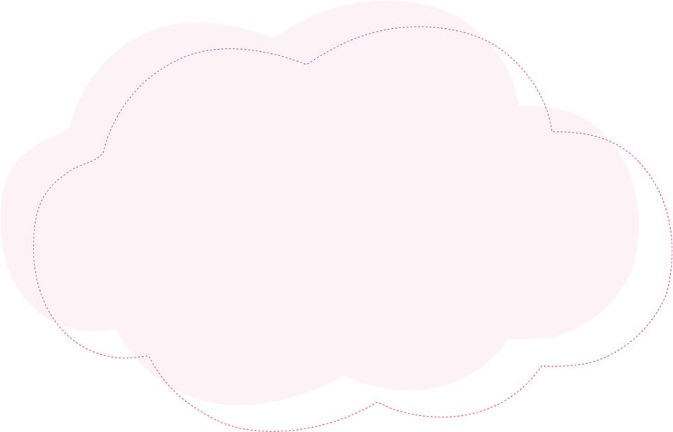 Cojín de nube y estrella en goma eva molde 1