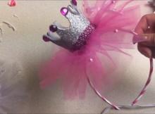 Diademas con corona de goma eva para niñas