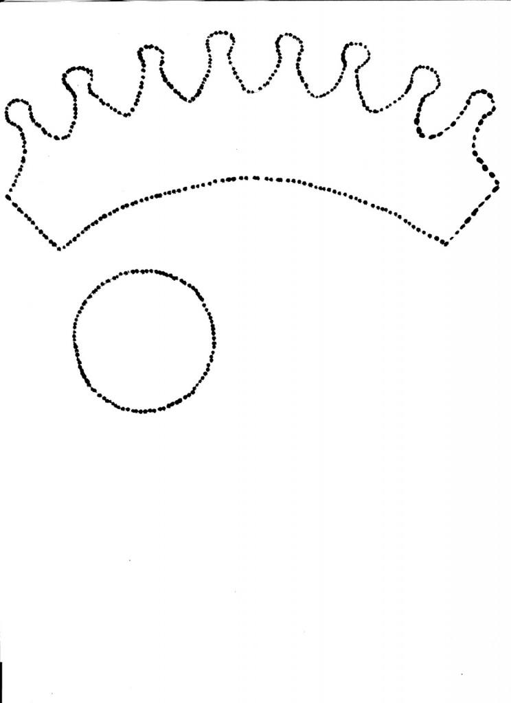 Diademas con corona de goma eva para niñas molde 1