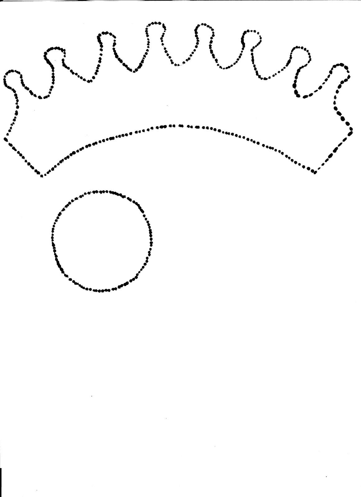 diademas con corona de goma eva para nias molde