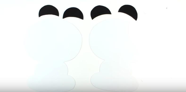 Portalapices con diseño de oso panda con goma eva 1