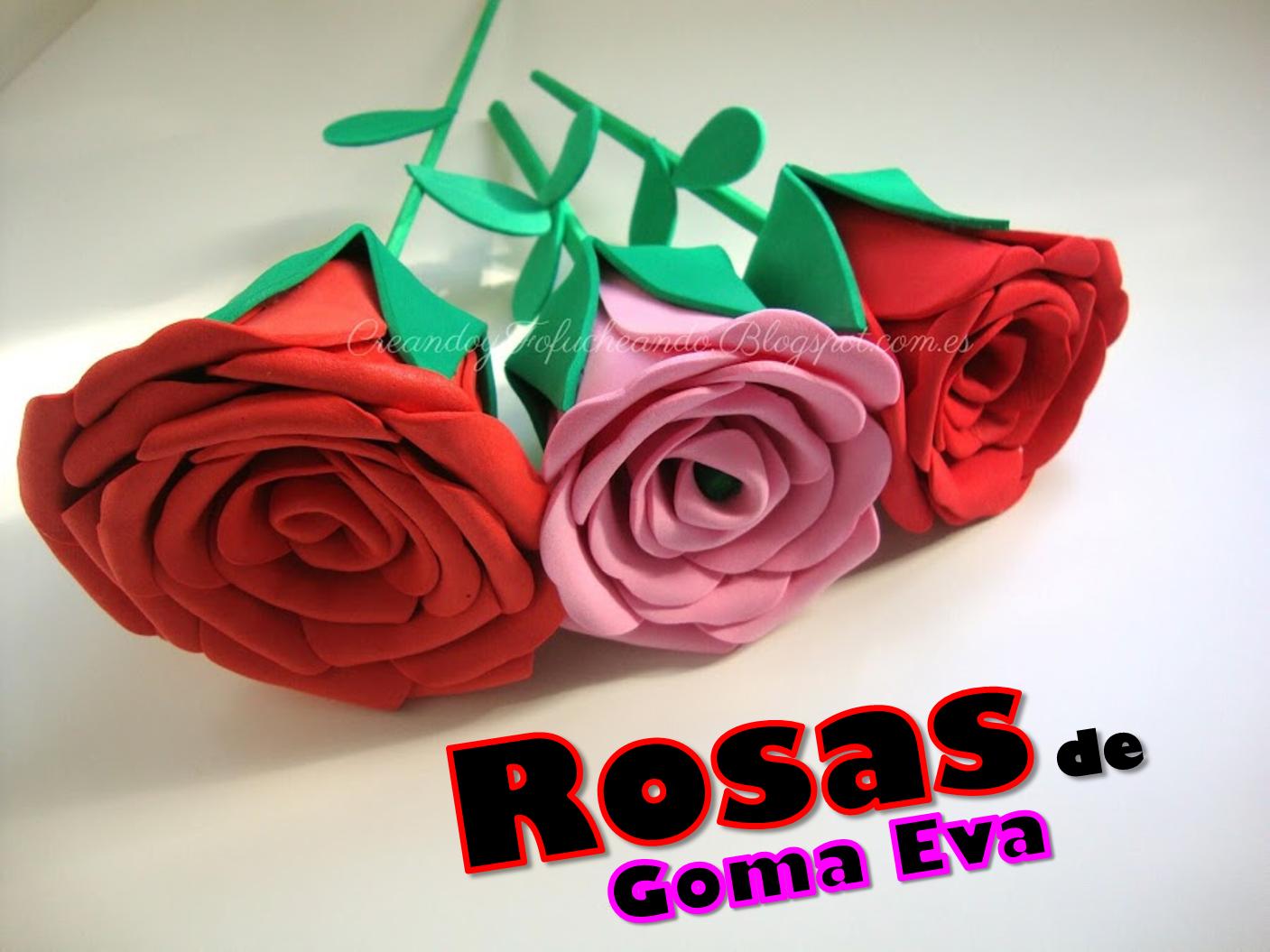 Rosas con Goma Eva