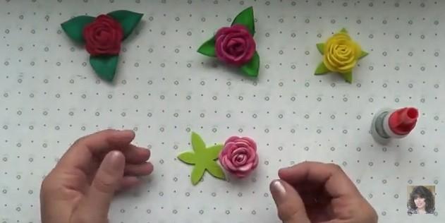 Rosas faciles de goma eva 10