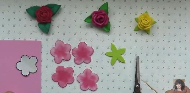 Rosas faciles de goma eva 3
