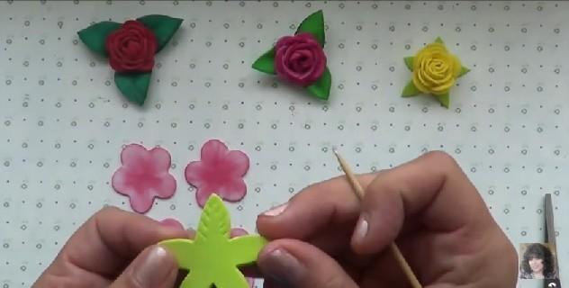Rosas faciles de goma eva 4