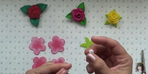 Rosas faciles de goma eva 6