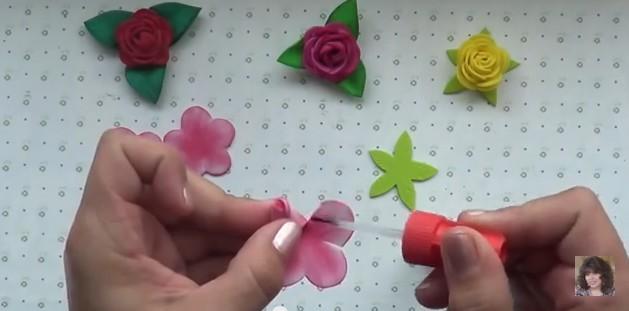 Rosas faciles de goma eva 7