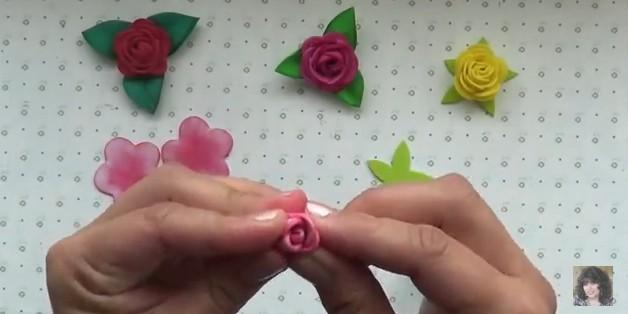 Rosas faciles de goma eva 8