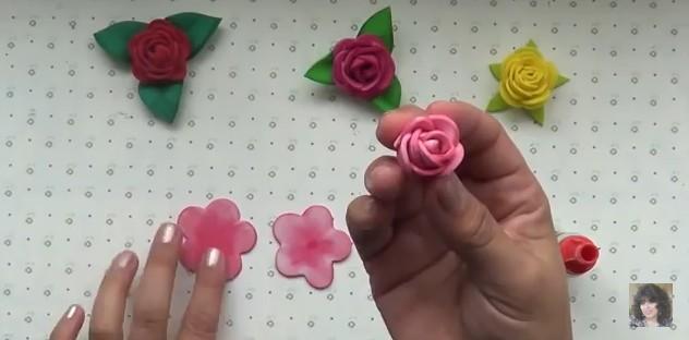 Rosas faciles de goma eva 9