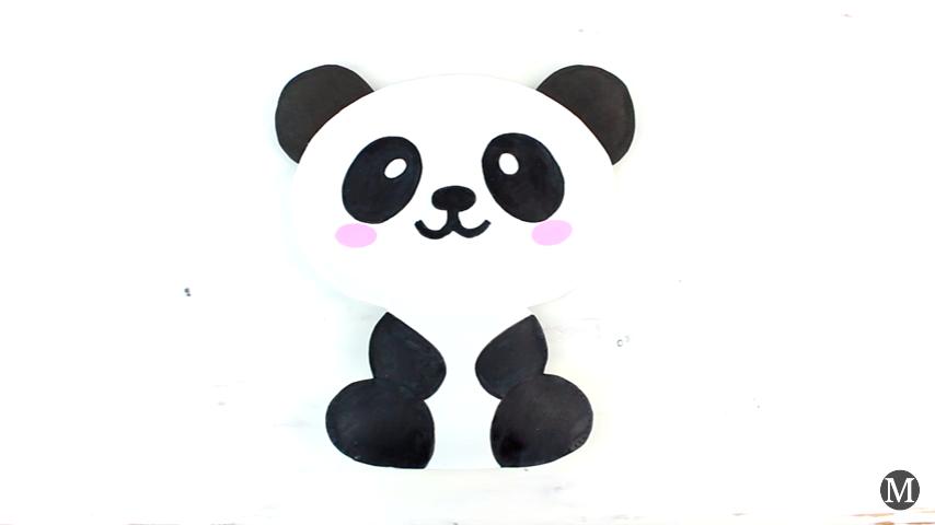 DIY Portalapices de Oso Panda super tierno