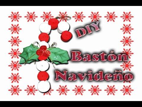 Bastón navideño de goma eva
