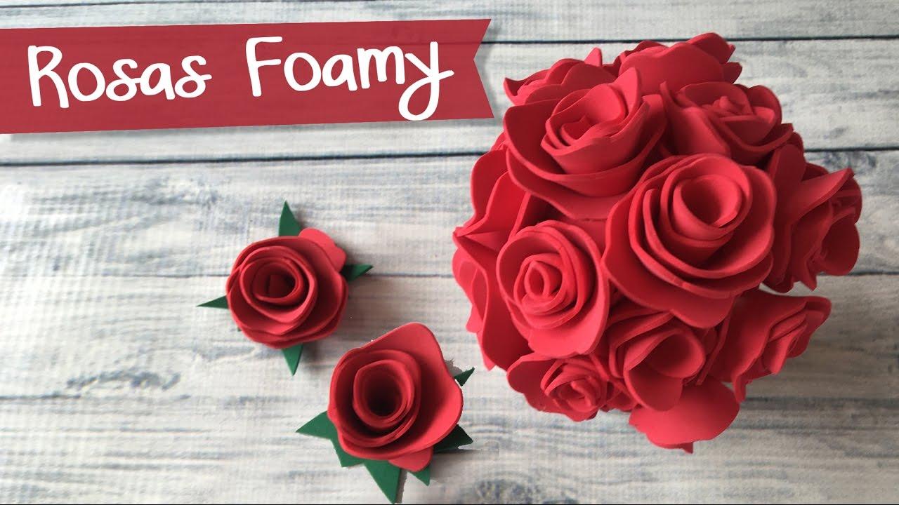 Un buquet de rosas para regalar de goma eva