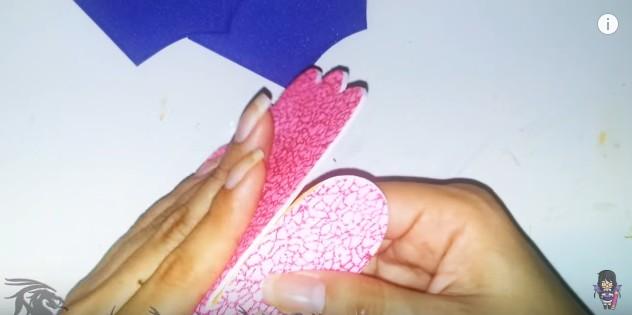 Cartera dulcero de goma eva para niñas 10