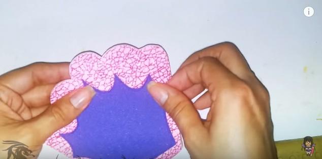 Cartera dulcero de goma eva para niñas 11