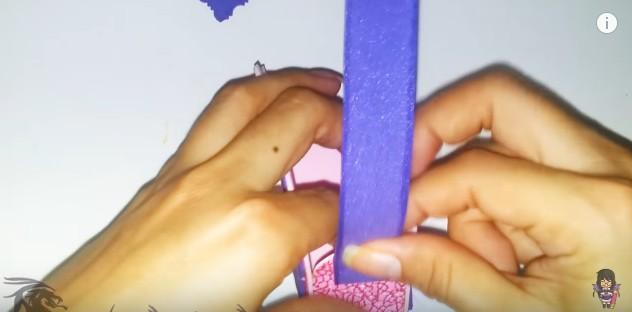 Cartera dulcero de goma eva para niñas 13