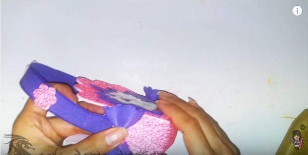 Cartera dulcero de goma eva para niñas 17