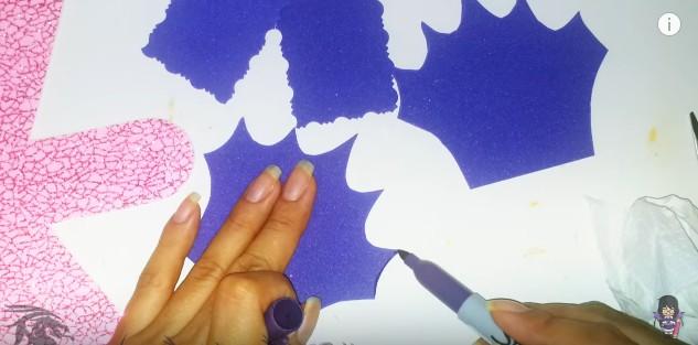 Cartera dulcero de goma eva para niñas 5