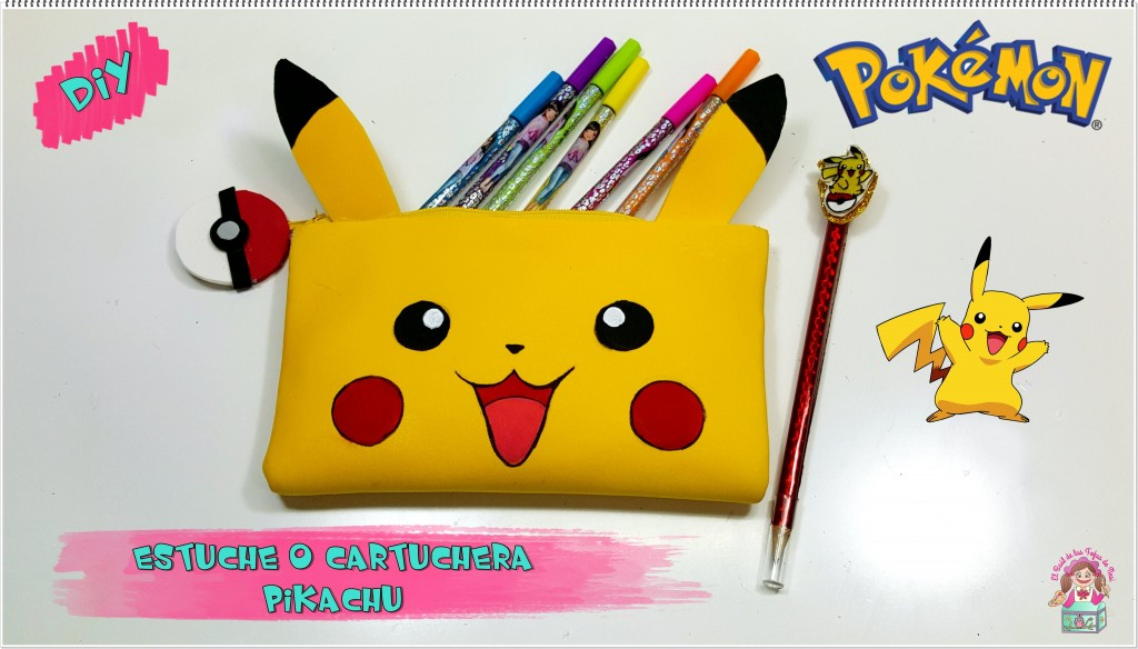 Cartuchera de Pikachu en goma eva