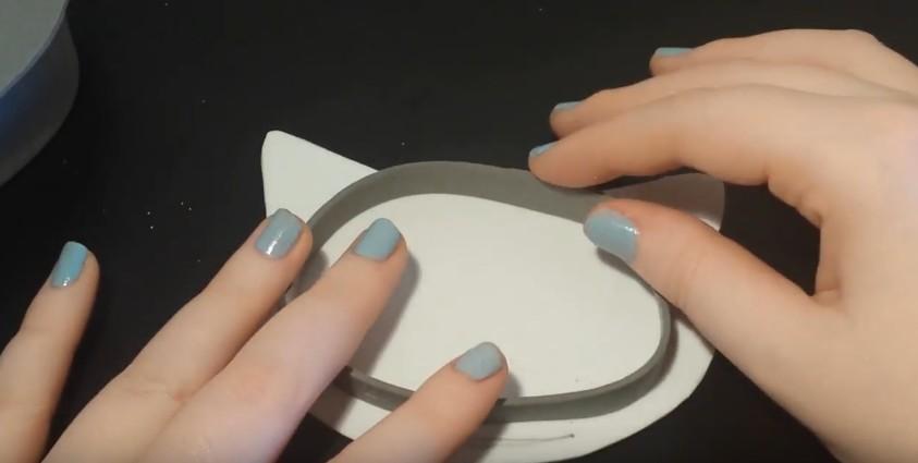 Caja joyero con forma de gato en goma eva 10