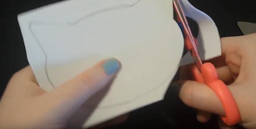 Caja joyero con forma de gato en goma eva 3
