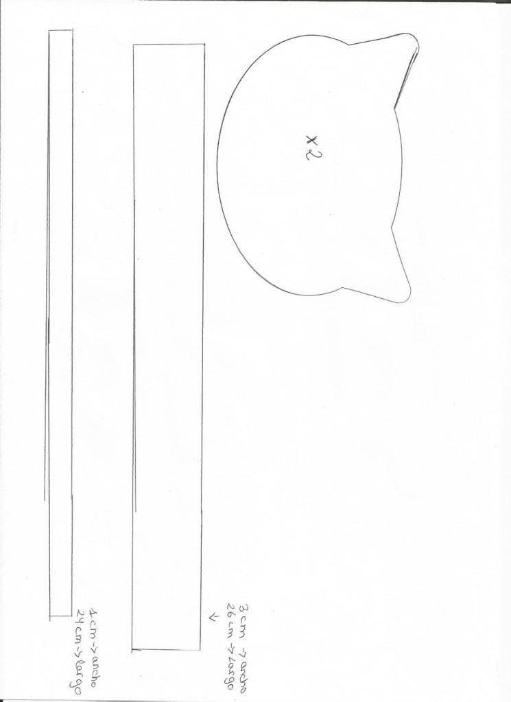 Caja joyero con forma de gato en goma eva molde