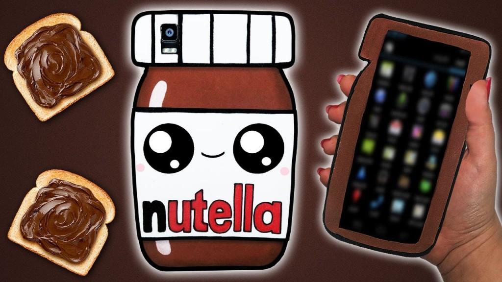 Funda para movil de Nutella en goma eva