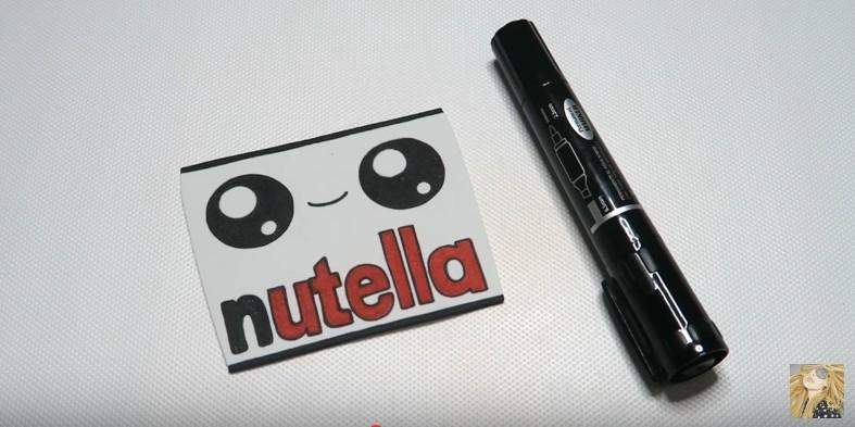 Funda para movil de Nutella en goma eva 11