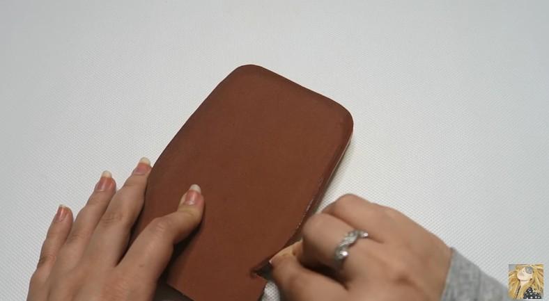 Funda para movil de Nutella en goma eva 12