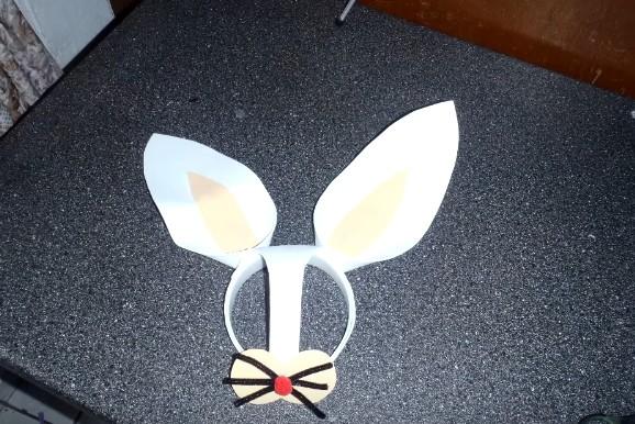 Orejas de conejo de Pascuas en goma eva