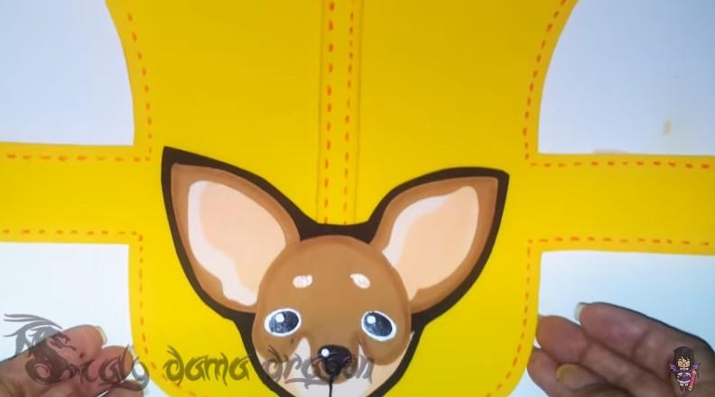 Pechera de goma eva para perritos chihuahua 10