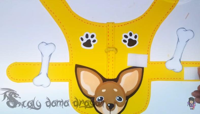 Pechera de goma eva para perritos chihuahua 13