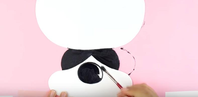 Portalapices con diseño de oso panda con goma eva 7